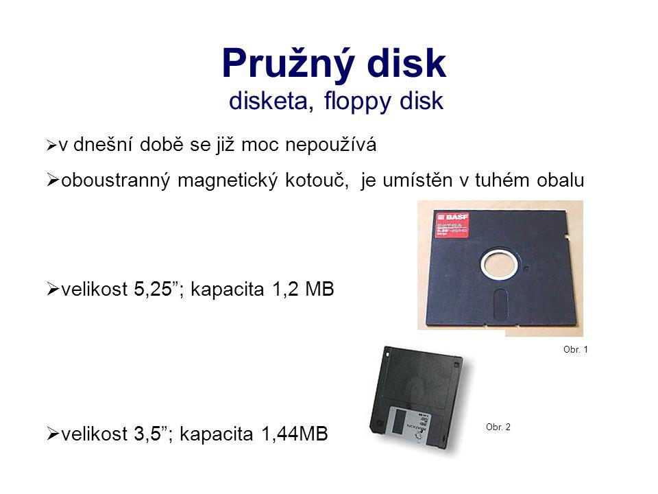 CD Compact disc – kompaktní disk optický disk určený pro ukládání digitálních dat Obr. 3