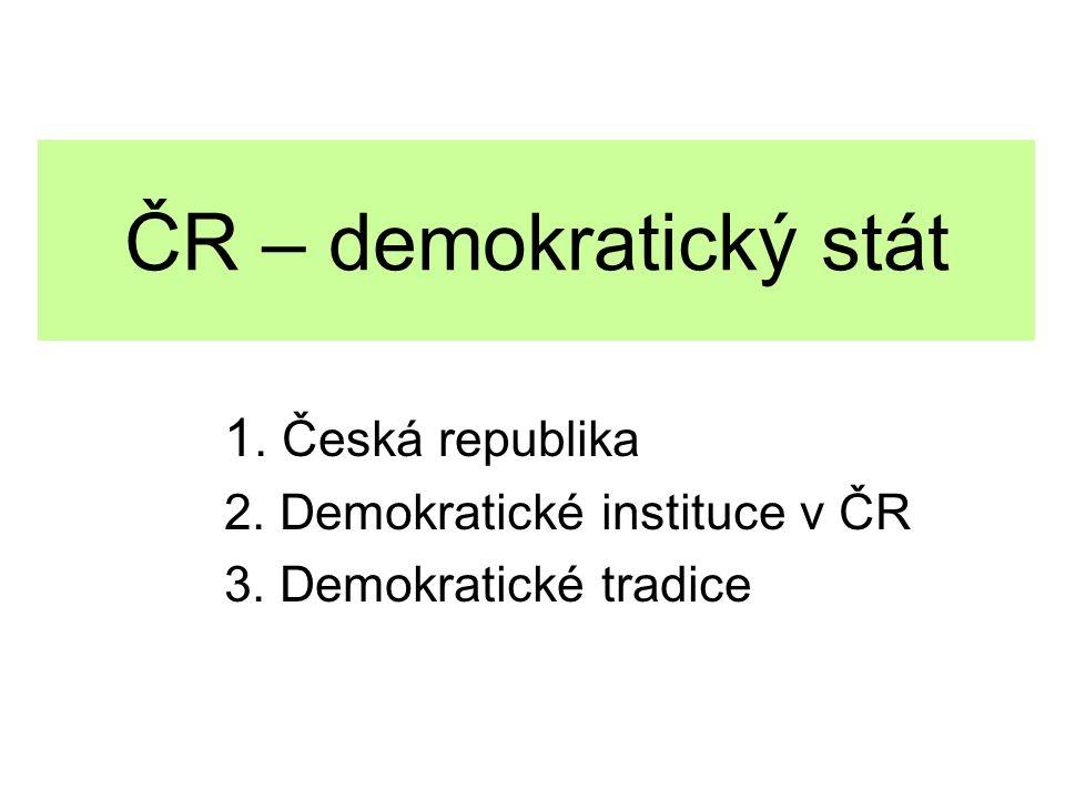 1.Česká republika Česká republika vznikla 1.1.1993.