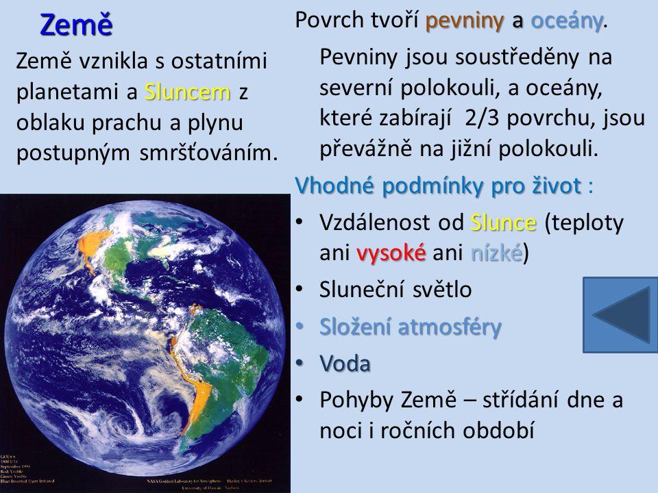 Zemská atmosféraatmosféra je vrstva plynů obklopující planetu Zemi, udržovaná na místě zemskou gravitací.