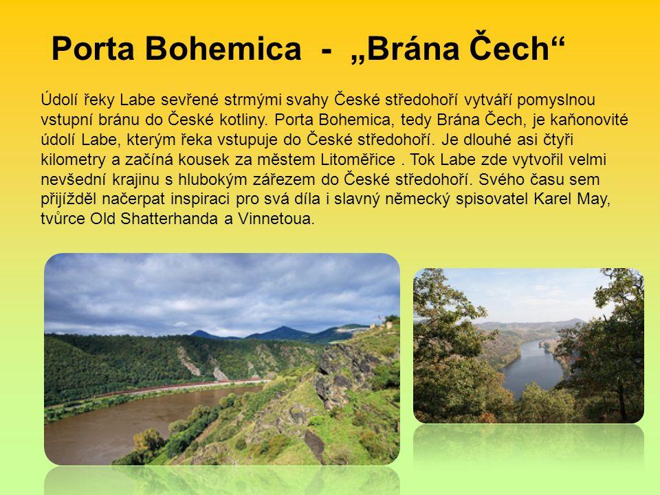 Údolí řeky Labe sevřené strmými svahy České středohoří vytváří pomyslnou vstupní bránu do České kotliny.