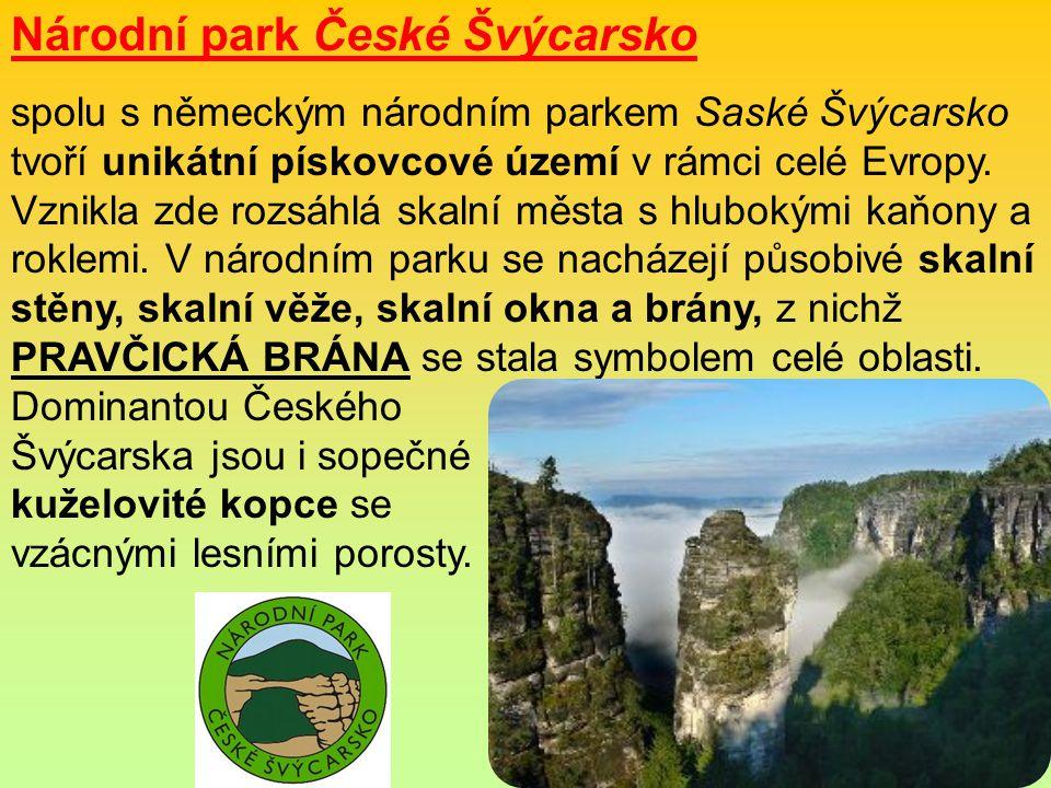 Národní park České Švýcarsko spolu s německým národním parkem Saské Švýcarsko tvoří unikátní pískovcové území v rámci celé Evropy.