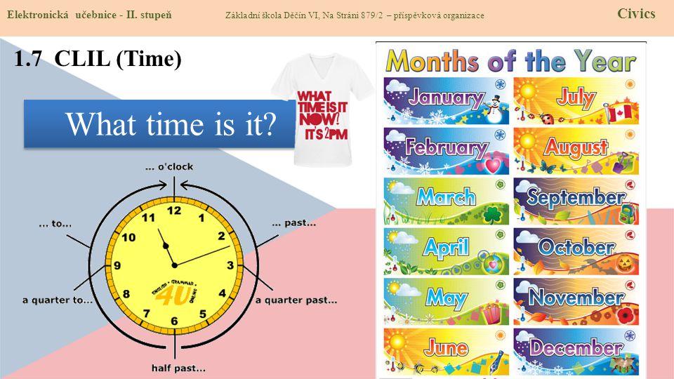 1.7 CLIL (Time) Elektronická učebnice - II.