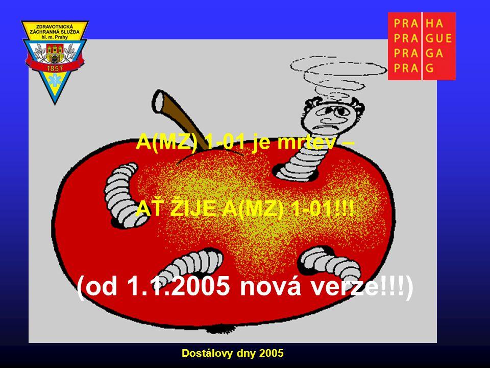 A(MZ) 1-01 je mrtev – AŤ ŽIJE A(MZ) 1-01!!! (od 1.1.2005 nová verze!!!) Dostálovy dny 2005
