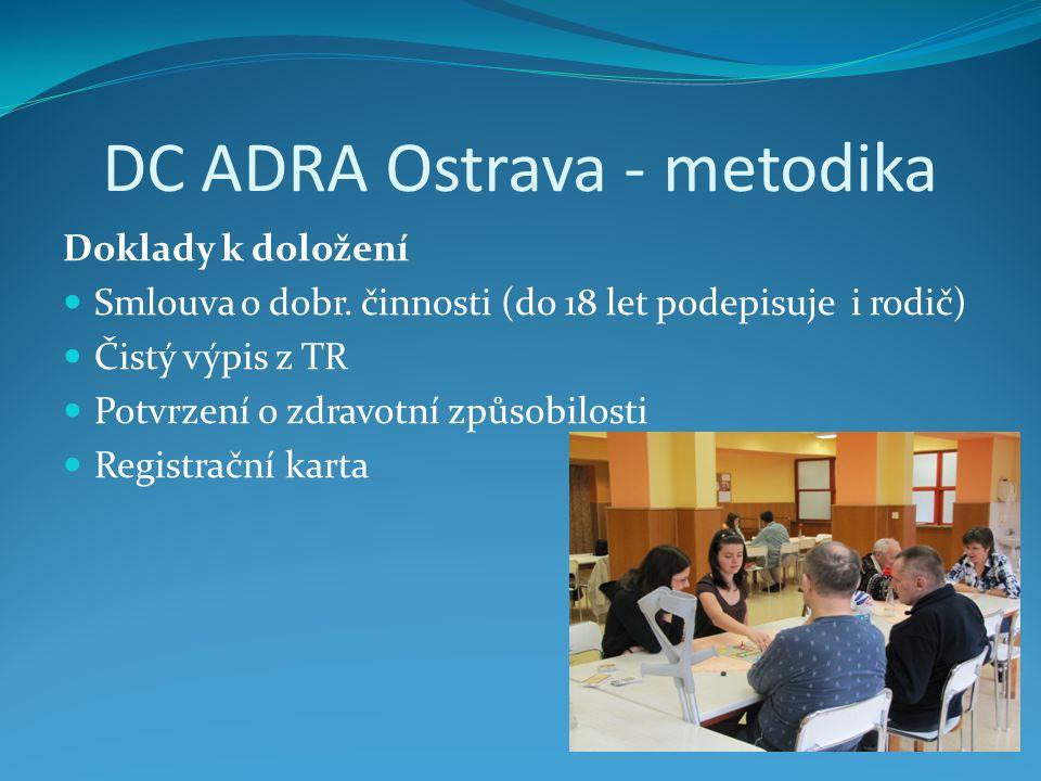 DC ADRA Ostrava - metodika Doklady k doložení Smlouva o dobr.