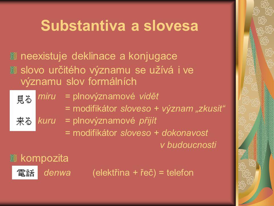 ČEŠTINA – SUBSTANTIVA 1/3 v jednom substantivu vždy jedna koncovka (výjimkou přejatá nesklonná slova jako Bordeaux, soirée a vlastní jména typu Pavlů) koncovka má funkci pádovou a číselnou žen-a = nom.