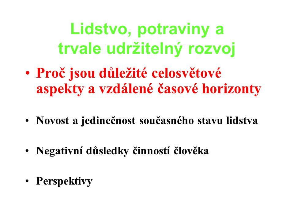 Důsledky optimistických a pesimistických rozhodnutí při optimistické nebo pesimistické skutečnosti Současná politika, kdy převládá technologický Skutečný stav světa odpovídá názoru, který zastávají OPTIMISTÉPESIMISTÉ OPTIMISMUSV y n i k a j í c í KATASTROFICKÝ PESIMISMUSD o b r ý V e l m i d o b r ý (Costanza, 2000)