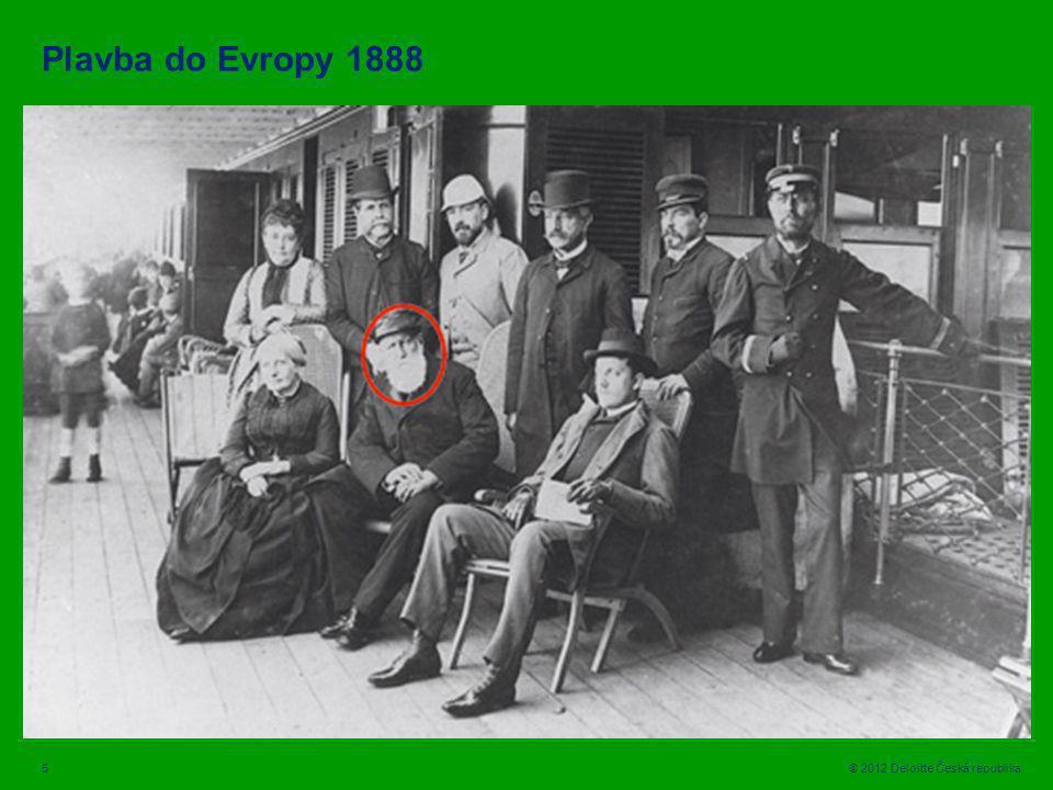 5 © 2012 Deloitte Česká republika Plavba do Evropy 1888 / http:/cecognos/finpage/