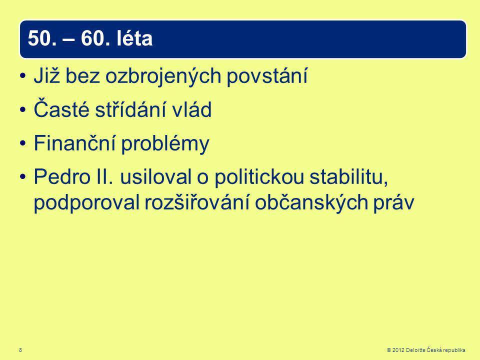 8 © 2012 Deloitte Česká republika 50. – 60.