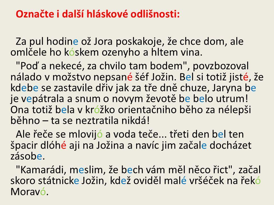 Určete zda je užitý útvar češtiny a.spisovný b.