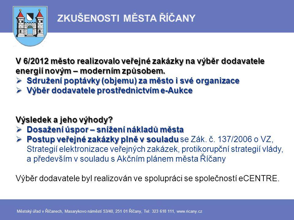 Město Říčany - Zemní plyn e-Aukce ze dne 7.6.
