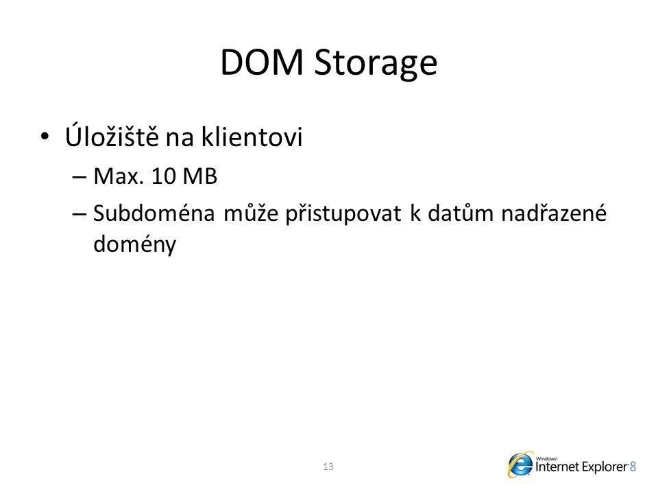 DOM Storage Úložiště na klientovi – Max.