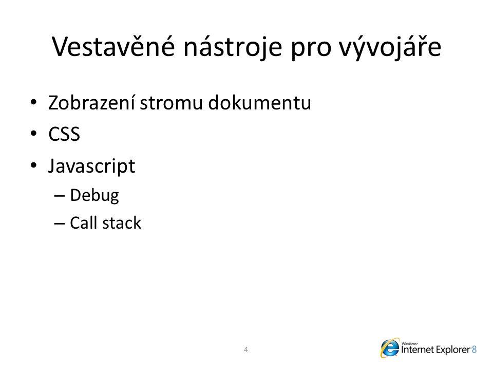 Odkazy http://www.microsoft.com/ie8 http://blogs.msdn.com/ie/default.aspx Rediness Toolkit – http://www.microsoft.com/windows/internet- explorer/beta/readiness/developers.aspx http://www.microsoft.com/windows/internet- explorer/beta/readiness/developers.aspx CSS Compatibility and Internet Explorer – http://msdn.microsoft.com/en-us/library/cc351024(VS.85).aspx http://msdn.microsoft.com/en-us/library/cc351024(VS.85).aspx 25