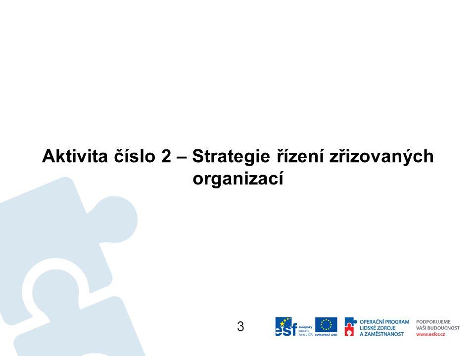 Aktivita číslo 2 – Strategie řízení zřizovaných organizací 3