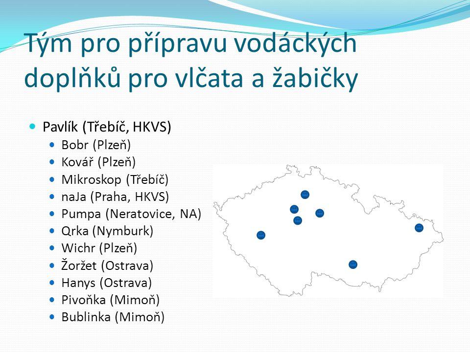 Pavlík (Třebíč, HKVS) Bobr (Plzeň) Kovář (Plzeň) Mikroskop (Třebíč) naJa (Praha, HKVS) Pumpa (Neratovice, NA) Qrka (Nymburk) Wichr (Plzeň) Žoržet (Ost