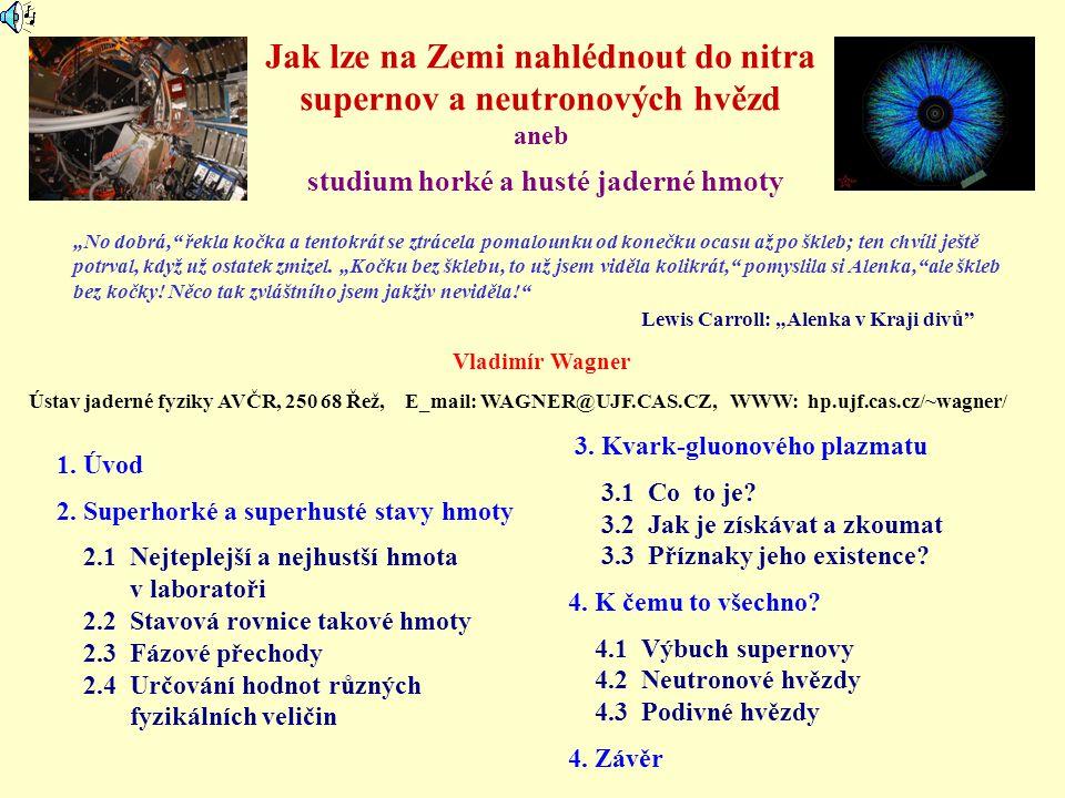 Srážky při relativistických energiích E = 1,5 GeV/nukleon E = 10,6 GeV/nukleon Simulace frankfurtské skupiny WWW stránky H.