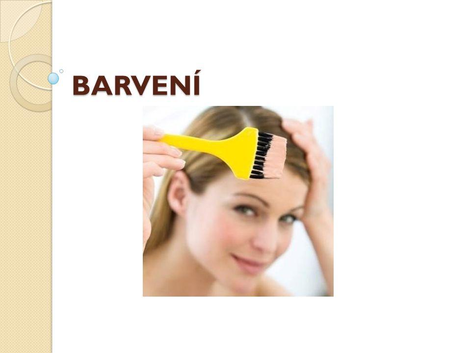 Faktory ovlivňující výslednou barvu Vlastnosti vlasůNesprávný výsledek Řešení problému Barvení barevných vlasů na světlejší odstín Nedostateč né odstranění pigmentů Alkalické stažení Melír a barvení Strakatá barva Zpětná pigmentace