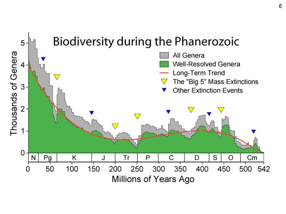 Druhová diverzita nejen počet druhů, ale i jejich relativní zastoupení ve společenstvu Simpsonův index diverzity Shannonův index diverzity (Shannon – Wiener) S = počet druhů ve společenstvu (vzorku) P i = relativní početnost druhu (počet jedinců i-tého druhu / počet všech jedinců) u rostlin se někdy počítá pokryvnost (biomasa) diverzita se zvyšuje s počtem druhů a s jejich vyrovnaností 7