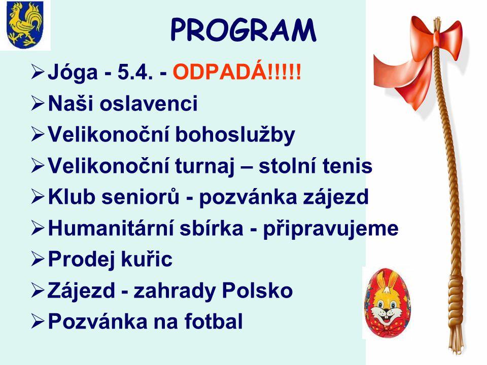 PROGRAM  Jóga - 5.4. - ODPADÁ!!!!.