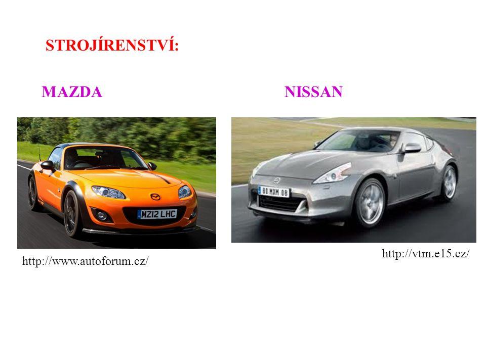 STROJÍRENSTVÍ: MAZDANISSAN http://www.autoforum.cz/ http://vtm.e15.cz/