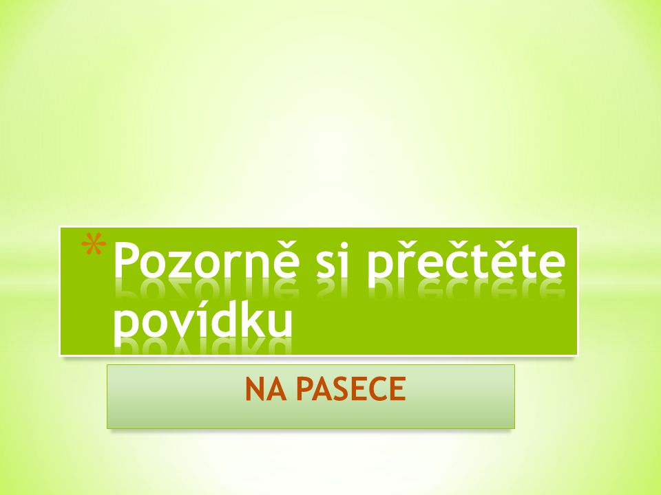 NA PASECE