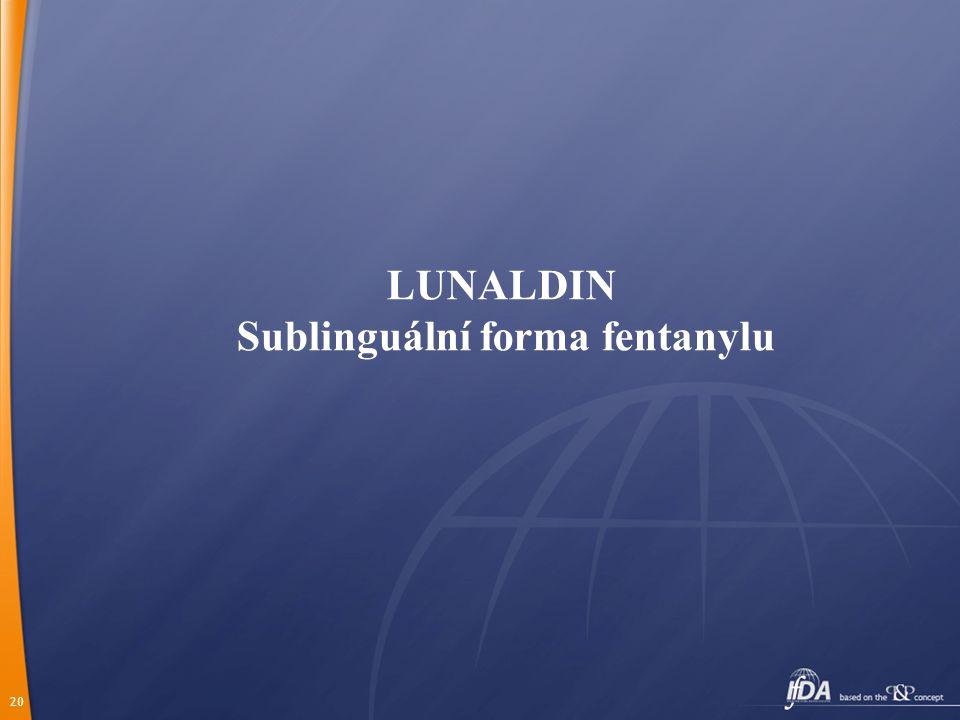 20 LUNALDIN Sublinguální forma fentanylu