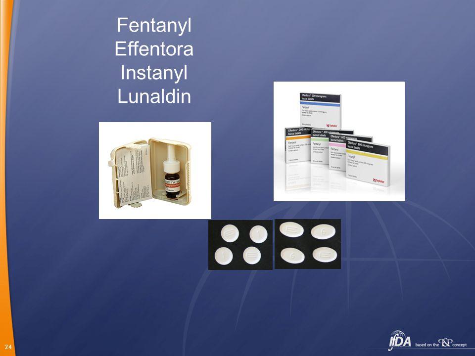 24 Fentanyl Effentora Instanyl Lunaldin