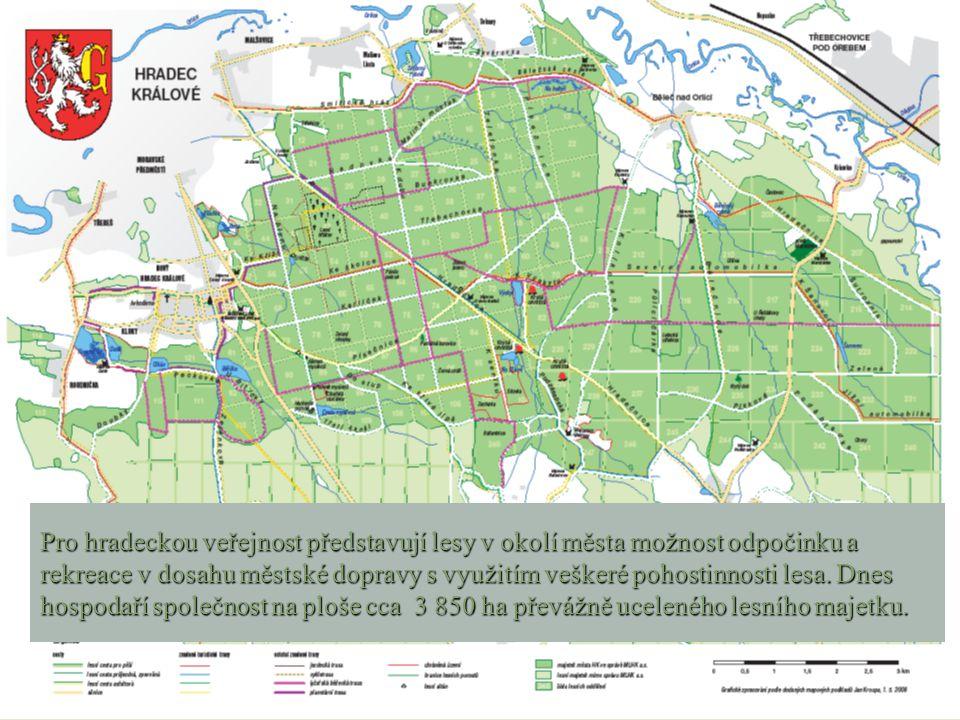 Pro hradeckou veřejnost představují lesy v okolí města možnost odpočinku a rekreace v dosahu městské dopravy s využitím veškeré pohostinnosti lesa.