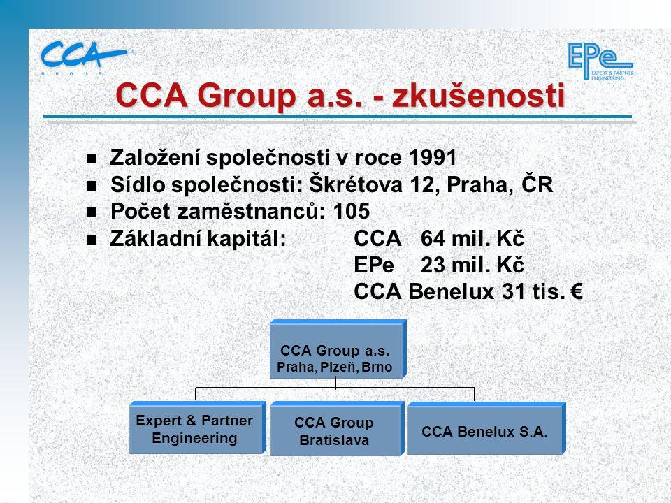n Založení společnosti v roce 1991 n Sídlo společnosti: Škrétova 12, Praha, ČR n Počet zaměstnanců: 105 n Základní kapitál: CCA64 mil. Kč EPe23 mil. K