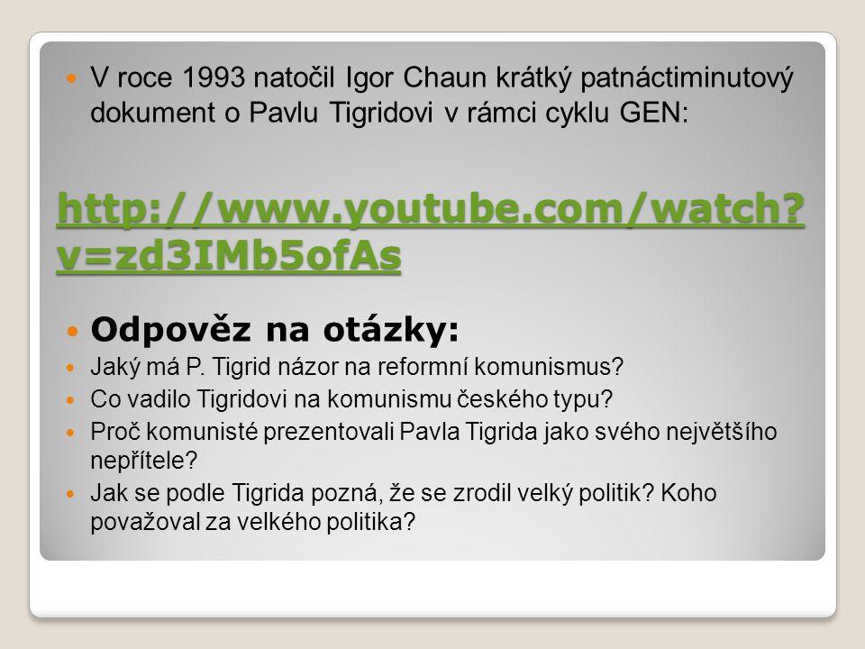http://www.youtube.com/watch? v=zd3IMb5ofAs http://www.youtube.com/watch? v=zd3IMb5ofAs V roce 1993 natočil Igor Chaun krátký patnáctiminutový dokumen