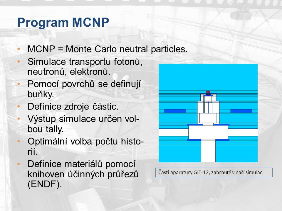 Program MCNP MCNP = Monte Carlo neutral particles.