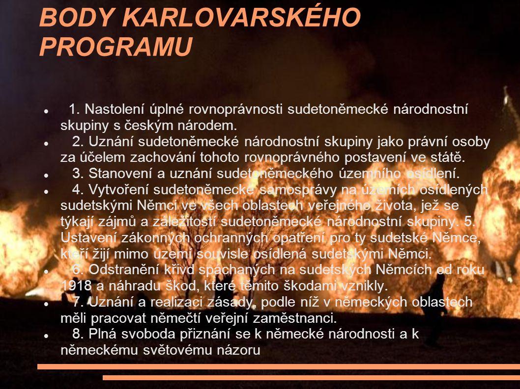 BODY KARLOVARSKÉHO PROGRAMU 1.