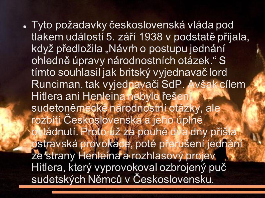 Tyto požadavky československá vláda pod tlakem událostí 5.
