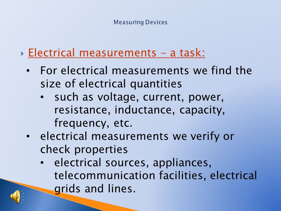Tutorial: Mechanic - electrician Topic: Electric measurement the 2nd.