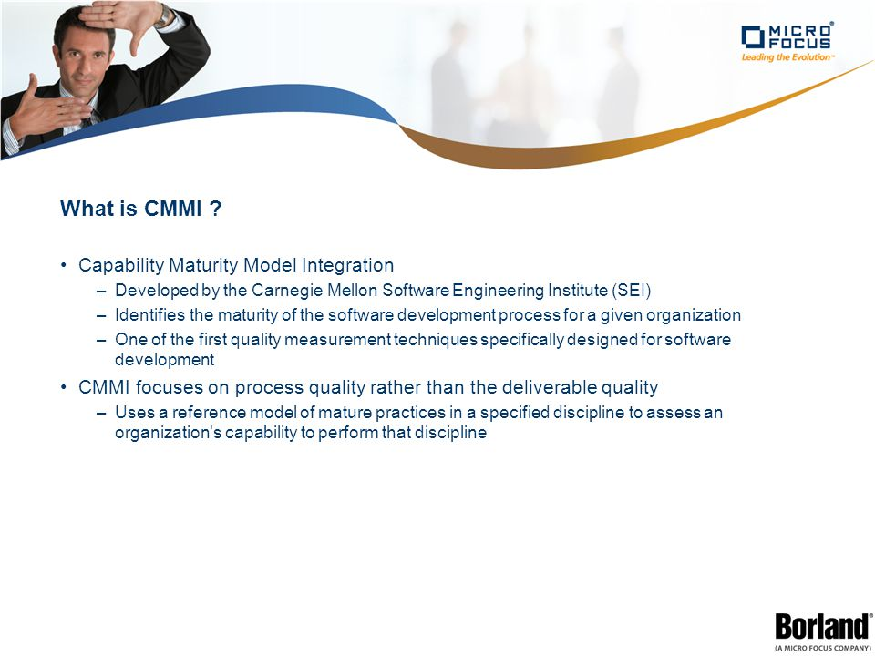 What is CMMI .