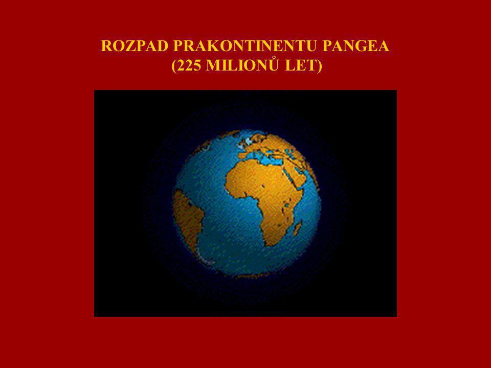 ROZPAD PRAKONTINENTU PANGEA (225 MILIONŮ LET)