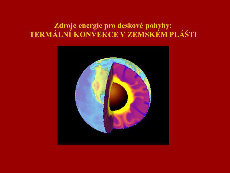 Zdroje energie pro deskové pohyby: TERMÁLNÍ KONVEKCE V ZEMSKÉM PLÁŠTI