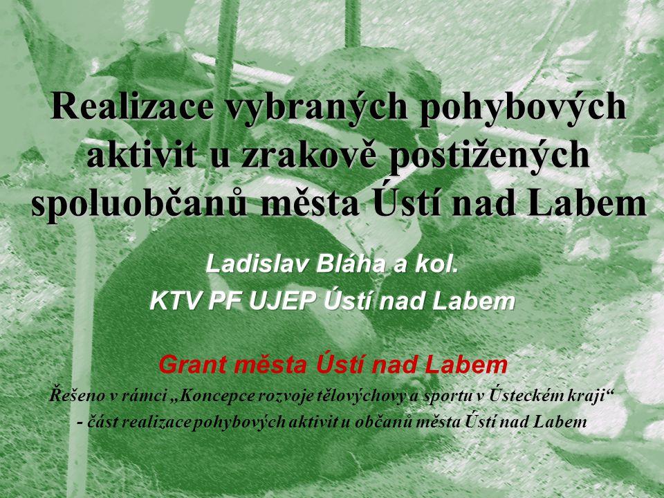 Realizace vybraných pohybových aktivit u zrakově postižených spoluobčanů města Ústí nad Labem