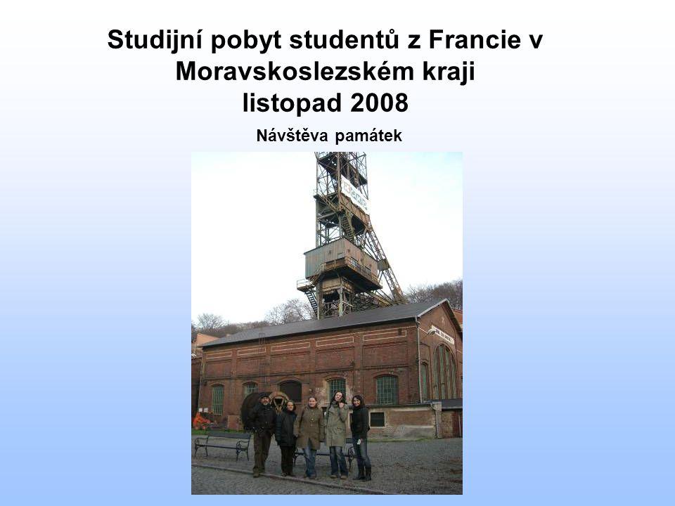 Studijní pobyt studentů z Francie v Moravskoslezském kraji listopad 2008 Návštěva památek