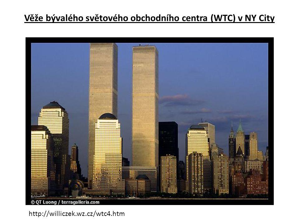 Věže bývalého světového obchodního centra (WTC) v NY City http://williczek.wz.cz/wtc4.htm