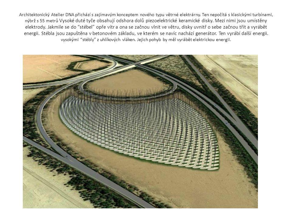 Architektonický Atelier DNA přichází s zajímavým konceptem nového typu větrné elektrárny.