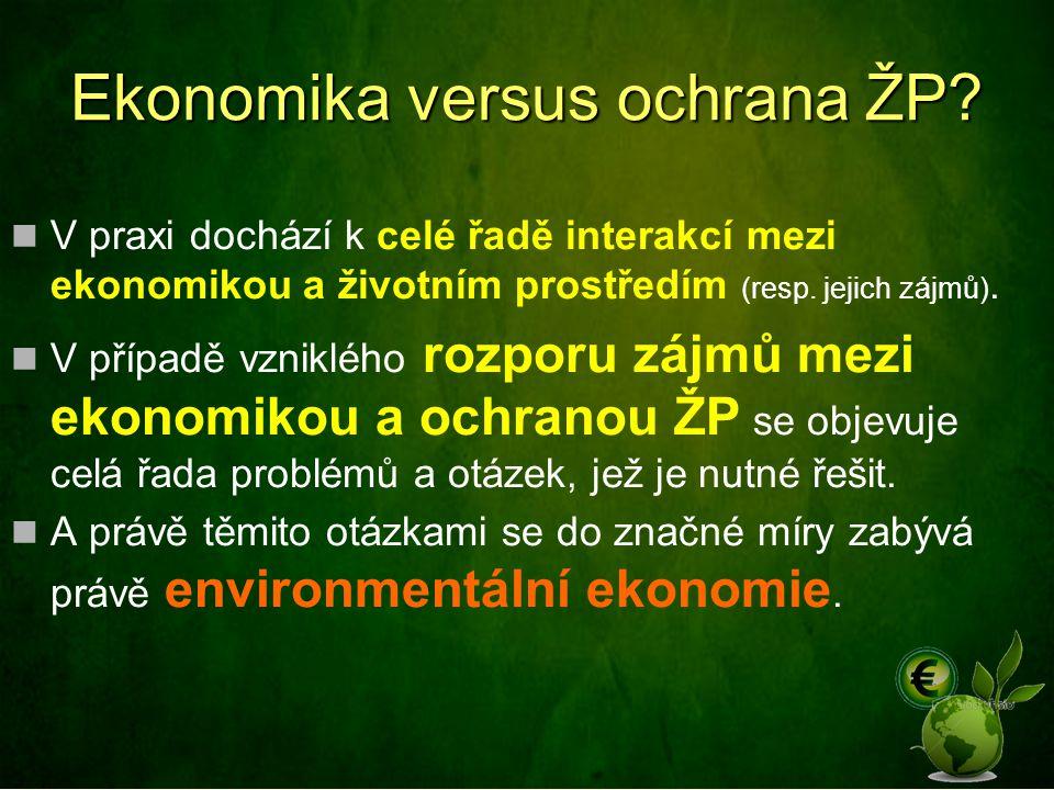 Ekonomika versus ochrana ŽP.