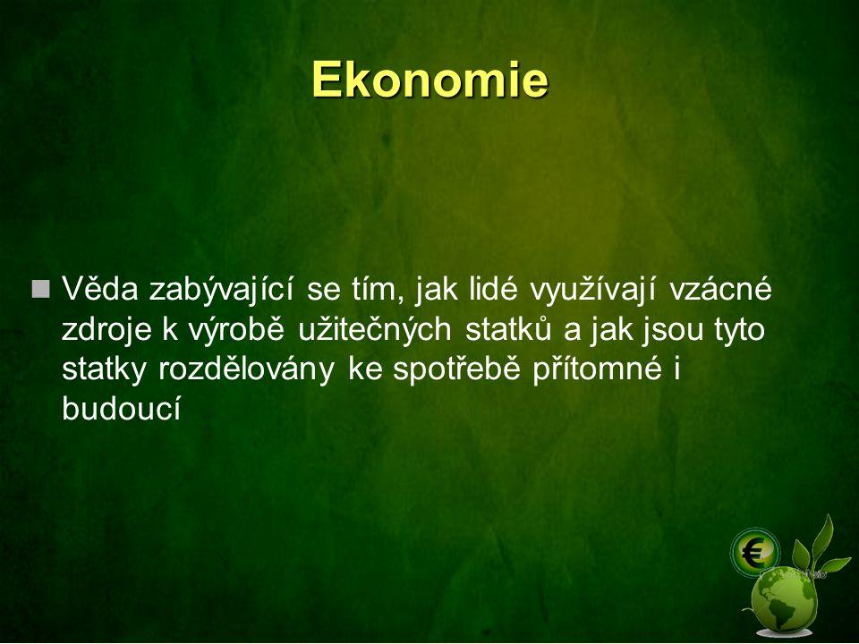 Vysvětlete pojem Ekonomika