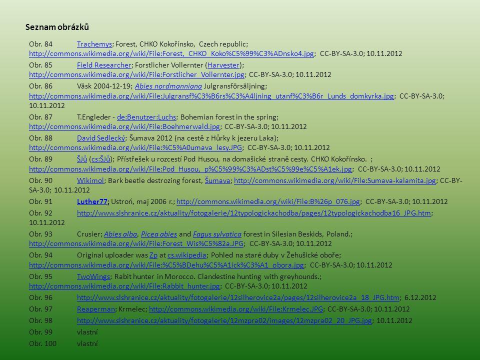 Seznam obrázků Obr. 84Trachemys; Forest, CHKO Kokořínsko, Czech republic; http://commons.wikimedia.org/wiki/File:Forest,_CHKO_Koko%C5%99%C3%ADnsko4.jp