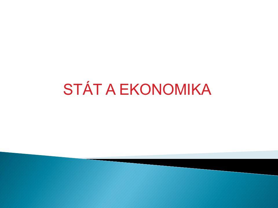 STÁT A EKONOMIKA