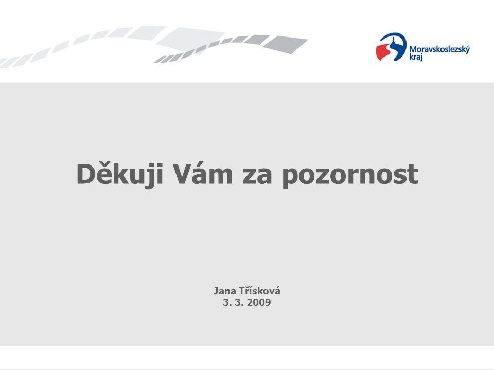 Dotazníkový průzkum Děkuji Vám za pozornost Jana Třísková 3. 3. 2009