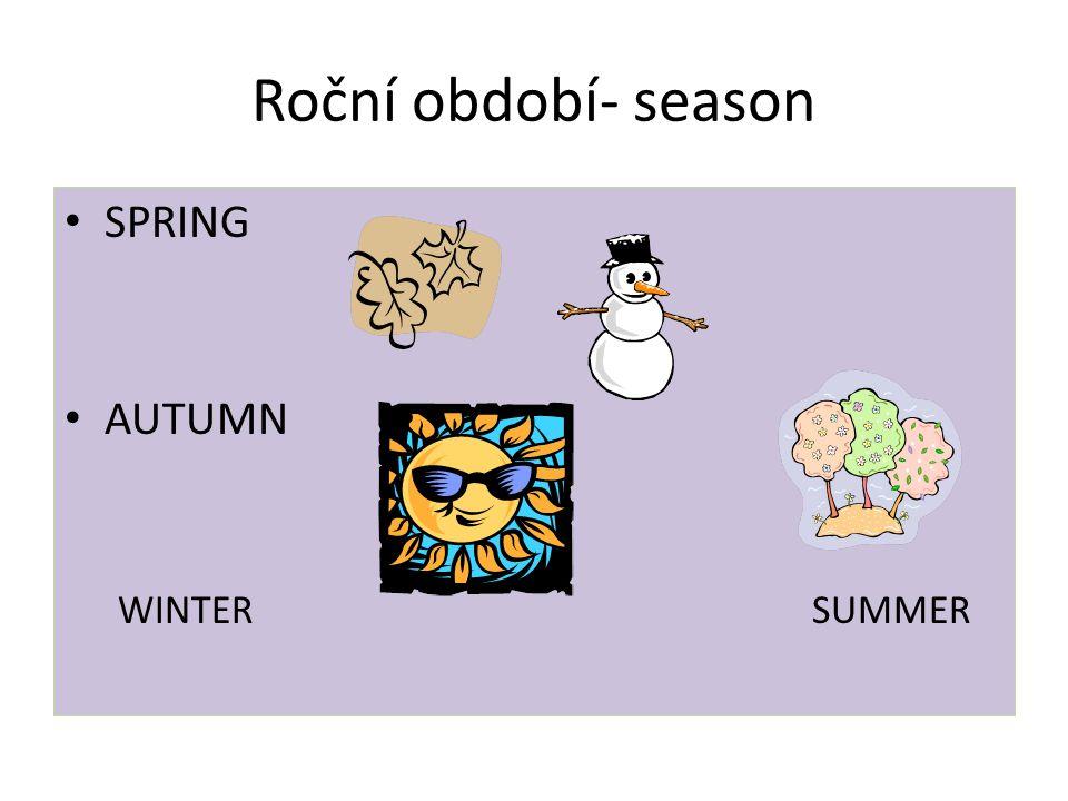Roční období- season SPRING AUTUMN WINTERSUMMER