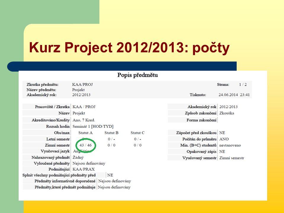 Kurz Project 2012/2013: počty