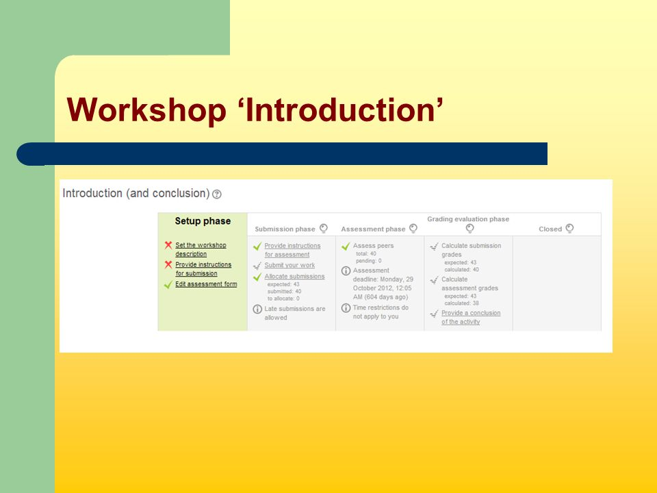 Workshop 'Introduction'