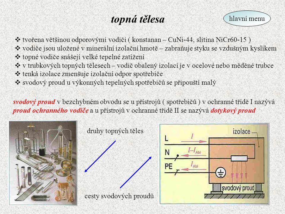 standardní žárovka  světelné ( optické ) záření vzniká inkadescencí  podíl viditelného záření narůstá s teplotou  vlákna z wolframu – teplota tání = 3653K, teplota vypařování = 6173K  žárovky jsou vakuové nebo plněné směsí vzácných plynů  vlákna žárovek vinutá jednoduše nebo dvojitě zpět