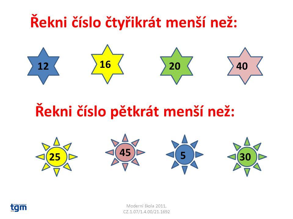 Moderní škola 2011, CZ.1.07/1.4.00/21.1692 Zkus to sám.